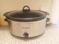 Brushed Chrome Crock-Pot Slow Cooker 6.5 Litre