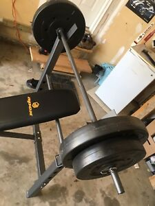 Workout Bench with 100lbs