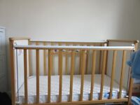 wooden cot approx 4ft x 2ft . .