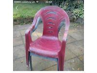 Outdoor Garden Chairs x 7
