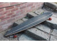 "47"" Lush Longboard Skateboard with Kryptos - Well Used But Skates Beautifully"