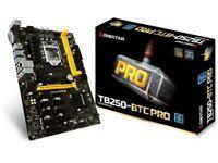 New 12 PCI-e Biostar Intel B250 TB250 BTC Pro Cryptocoin Mining ATX Motherboard