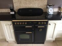 Rangemaster Classic 90 Freestanding Electric Oven with matching hood - Ceramic top
