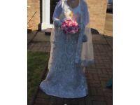 For Sale Very Unique Designer Wedding Dress for Bridal with free wedding handbag & bouquet £750