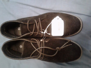 NEW SUEDE TIEUP SHOES!!--REDUCED!!