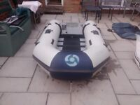INFLATABLE DINGHY YAMAHA 250T , 3 MAN , OUTBOARD TRANSOM , DINGY TENDER RIB SIB SAILING FISHING BOAT