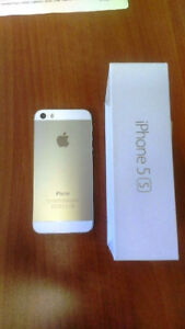 I phone 5s 16Gig GOLD iphone 5s Apple used in Box with Case
