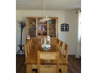 Dinning table and 8 Chairs with matching unit Solid Wood