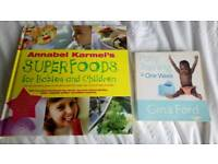 Annabel Karmel book and Gina Ford potty training book