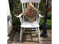 Fusion white large carver chair