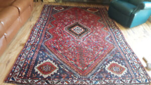 Antique Persian 1950s area rug large