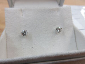 **2,140.00 VALUE** Stunning 14k White Gold Diamond Earrings