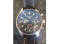 Jorg Gray Obama Watch, smaller version with leather strap