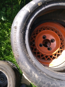 Cart slick tires, and tires ($200.00 OBO)