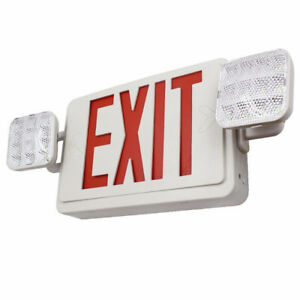Dual/Single Face Combo EXIT Sign and Emergency Light