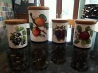 Portmerion storage jars and biscuit barrel