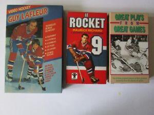 Cass VHS. Guy Lafleur. Maurice Richard. Great Plays.(voir infos