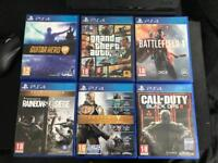 PS4 500GB and 6 games £200 Collection only!!