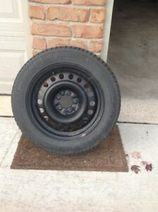 Michelin X-Ice X3 Winter Tires and Black Steel Rims for Sale