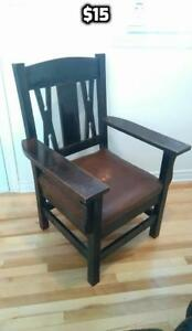 Arts and Crafts Style Wood Chair