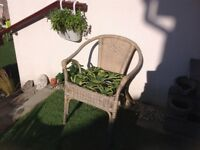 WICKER CHAIR ,IN GOOD CONDITION AND STRONG