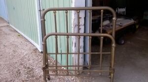 Antique Simmons brass bed
