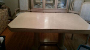 Bleached Birch Dining Room Set