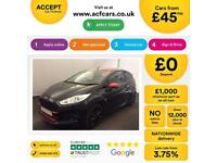 Ford Fiesta Zetec S Black Edition FROM £45 PER WEEK!
