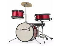 Rocket 3 Piece Red Junior Drum Kit