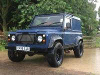 Land Rover 90 Defender 200 tdi conversion Blue JE Engineering