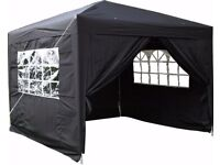 3mt x 3mt pop up gazebos with sides, brand new