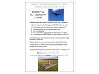 Sibsey Lancaster Memorial Service in the Field - 1st October 2.30pm - PE22 0UF (follow the signs)