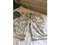Schott NYC camo shorts 32in