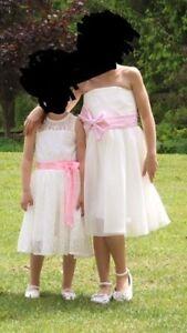 2 robes style bouquetières