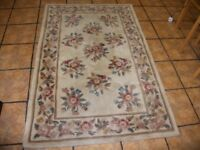 Beautiful thick Chinese style wool blend rug