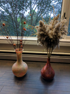 2 vases with flowers for $20