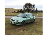 ROVER 25 petrol manual MOT till march 2018 - FUEL PUMP NEEDED - then great car - £180