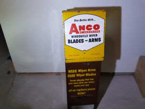Vintage Anco wiper cabinet with cart - oil and gas collectible