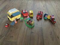 Assortment of Peppa Pig toys