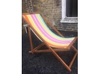 Deck chair in almost new condition