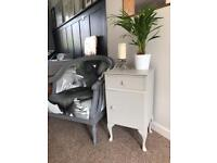 Side table bedside table grey