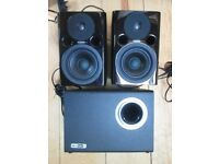 Fostex PM0.4n (pair) + Bass Box 5 Subwoofer - Studio Speaker Monitors