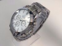New Omega Speedmaster silver dial stainless steel automatic watch