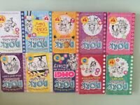 SET OF 10 DORK DIARIES BOOKS - USED, VERY GOOD CONDITION
