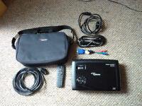 Optoma HD600X-LV HD Projector + Case, Remote & 10m Cable