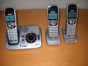 3 set Uniden Phone system with answering machine