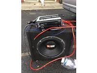 Sub amp bluetooth radio