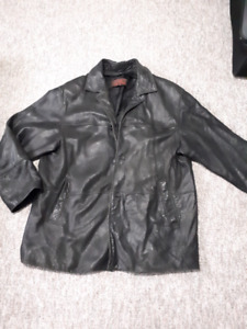 Black Leather Jacket/Coat Men's XL