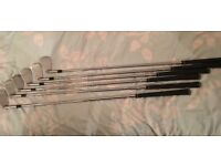 Set of Taylor made CB irons tour preferred