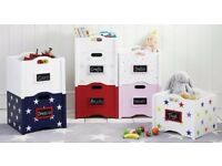 Set of 2 Stacking toy storage boxes from GLTC